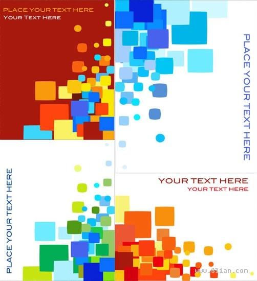 brochure background templates colorful flat geometric squares decor