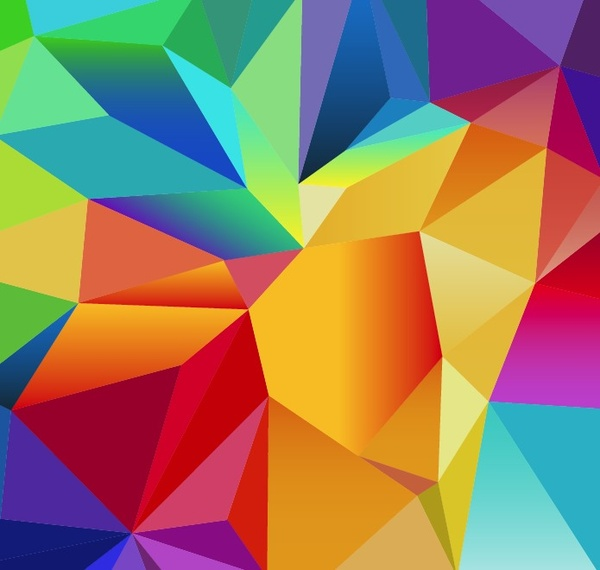 abstract geometric polygonal vector background free vector in