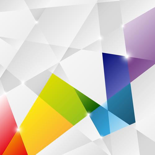 Abstract Geometric Shapes Background Free Vector In