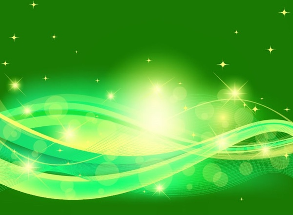 Abstract Green Background Design Vector Illustration Free