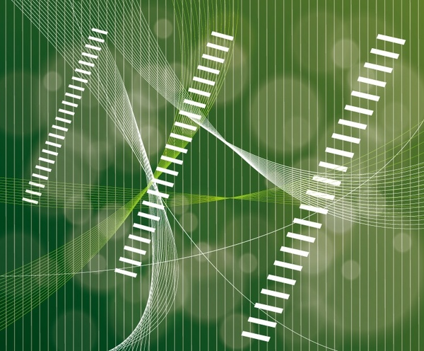 abstract green bokeh background stripes and curves decoration