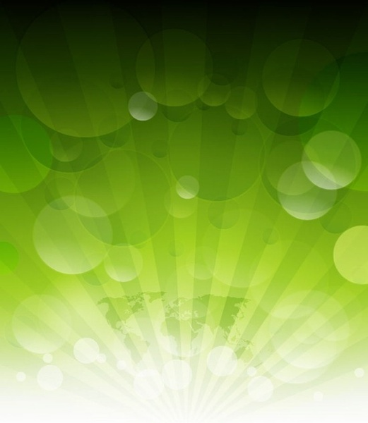 Abstract Green Rays Vector Background