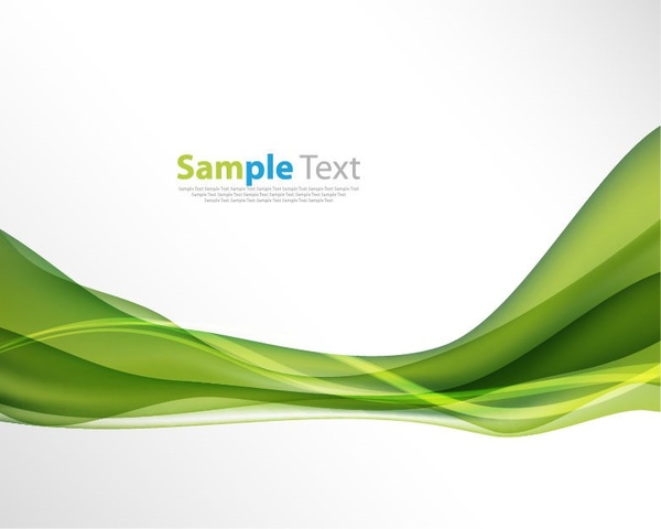 Abstract Green Wave Background Vector Illustration Free