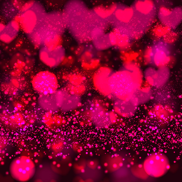 abstract heart valentine day background