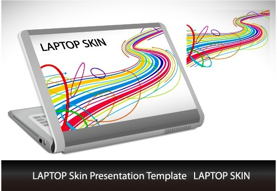 Abstract laptop sticker vector Free vector in Encapsulated ...