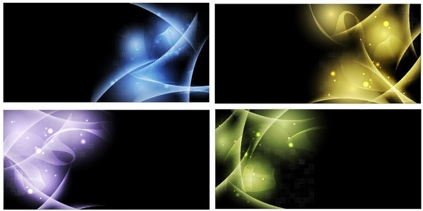 Abstract Light Vector Background Set