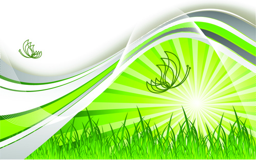 abstract natural elements vector background