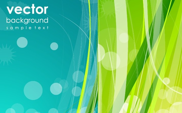 abstract background green nature decoration bokeh curves design