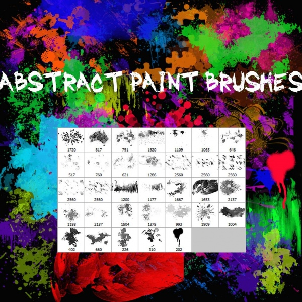 abstract paint brushes