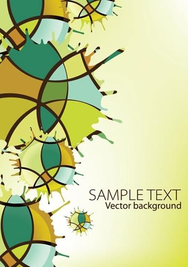 abstract background colorful flat splashing shape