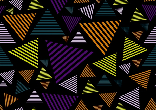 abstract pattern design various striped triangles decoration