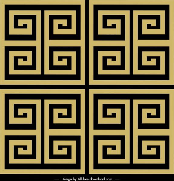 abstract pattern flat classical symmetric maze decor