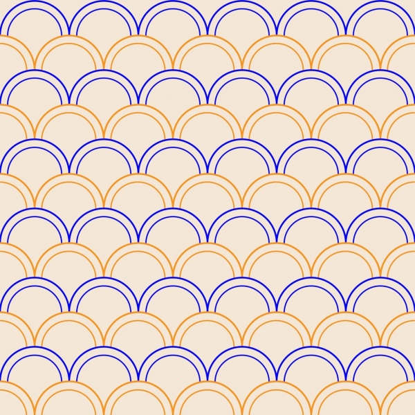 abstract pattern sketch colored circle design repeating style