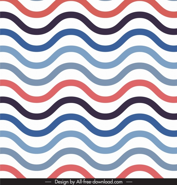 abstract pattern template waving curves lines illusion design