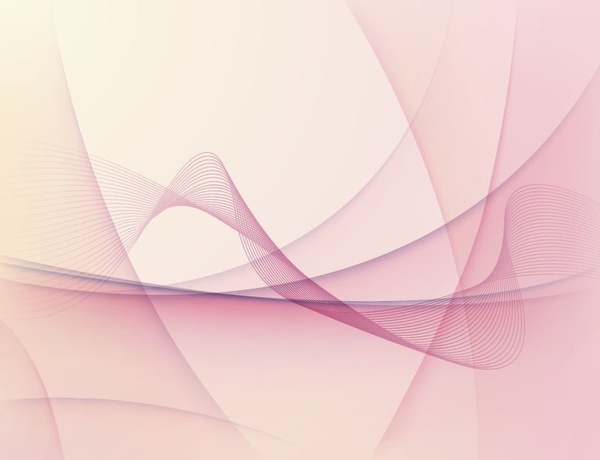 Abstract Pink Wave Vector Background