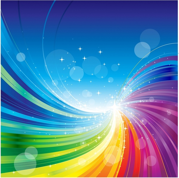 Abstract Rainbow Colors Wave Background Free Vector In