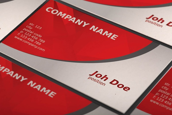 Abstract Red Business Card Template Free Vector In Adobe Illustrator