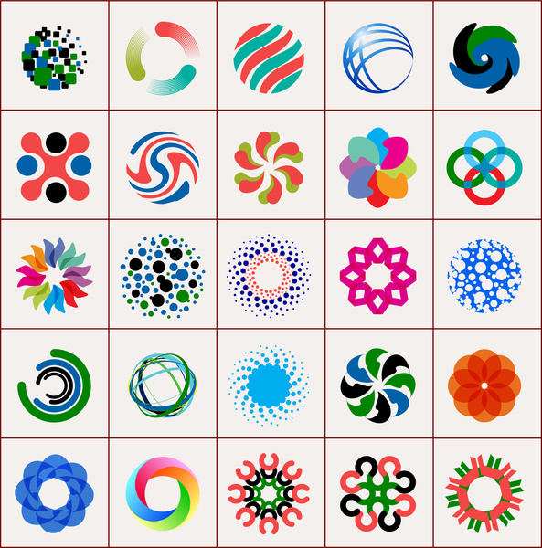 Abstract Shape Design Element Collections Free Vector In