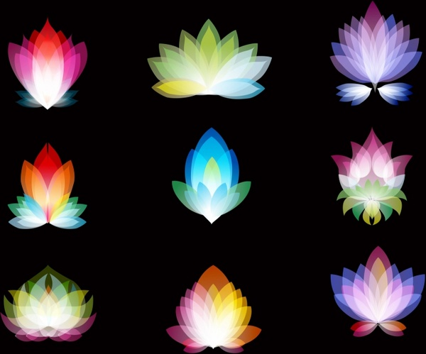 abstract spectrum flowers