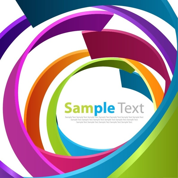 Abstract Spiral Color Background