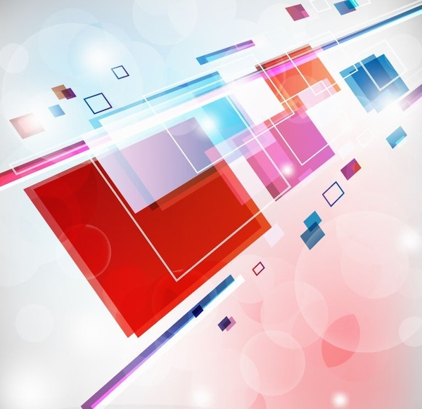 Abstract Square Colorful Background