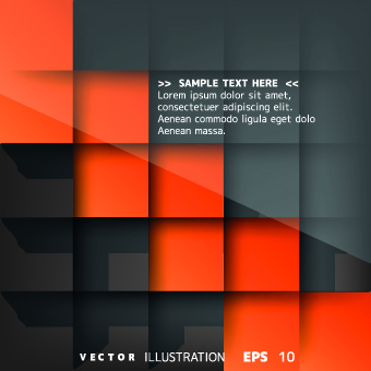 abstract squares shiny backgroud vector
