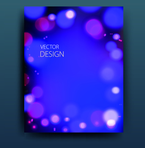 abstract style magazine or brochure cover vector