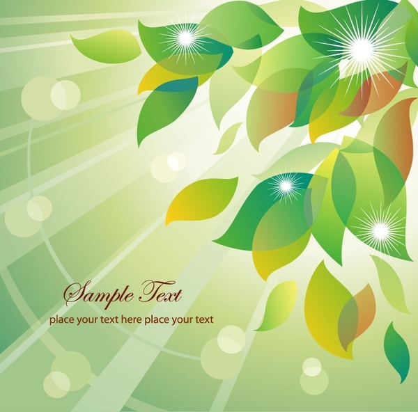 Abstract Summer Floral Vector Illustration