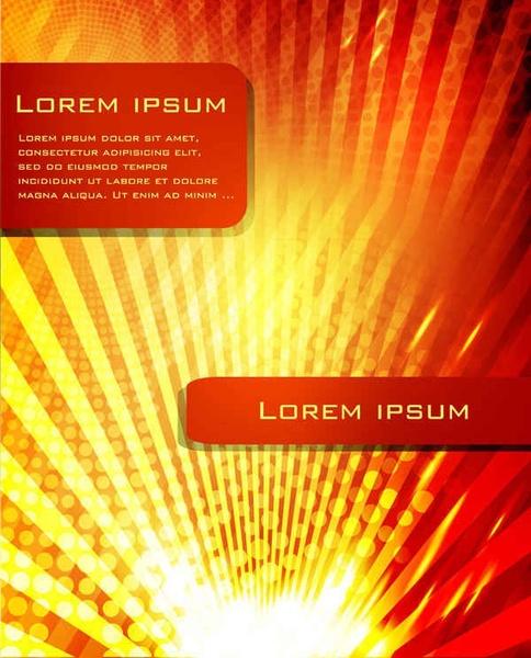 Abstract sunny design brochure