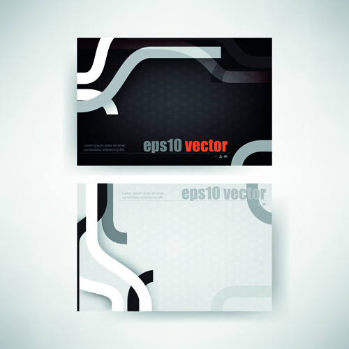 abstract track business cards vector set