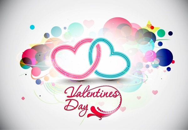 Abstract Valentines Day Vector Illustration Free Vector In
