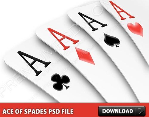 Ace Of Spades PSD file