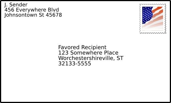Addressed Envelope With Stamp Clip Art