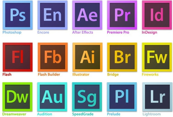 adobe creative suite family software logo vector free vector in