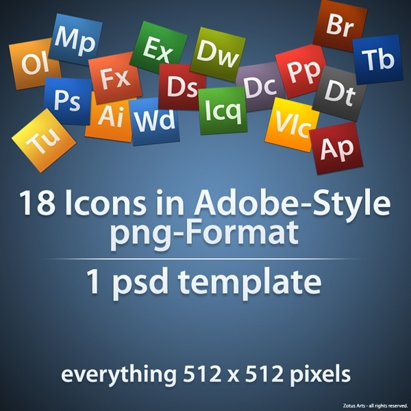 Adobe Style Icons icons pack
