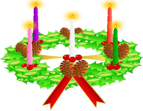 Advent Wreath Advent Crown Free Vector In Open Office Drawing Svg
