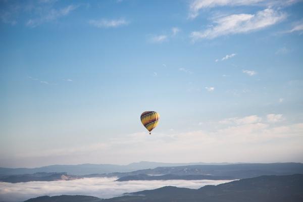 adventure air aircraft airship balloon evening