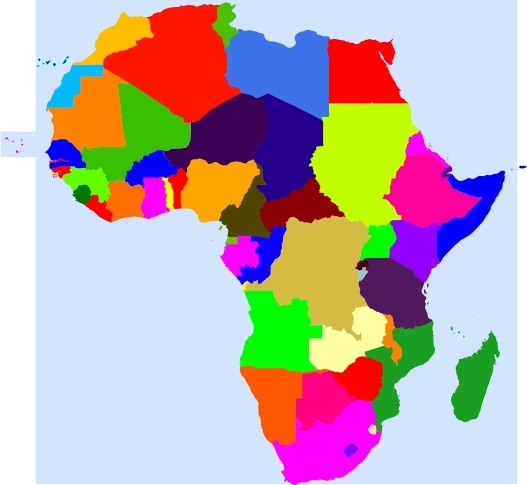 Colourful Africa Map Logo:  Africa Clip Art Free Vector In Open Office Drawing Svg