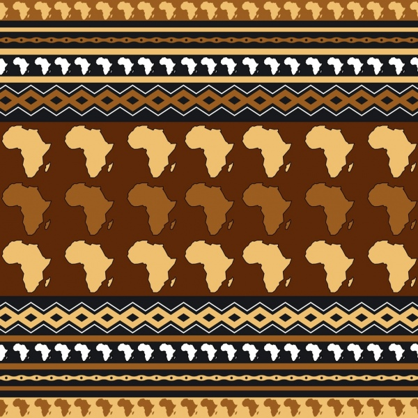 africa pattern background repeating map decoration