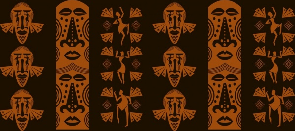 africa pattern design element classical tribal style