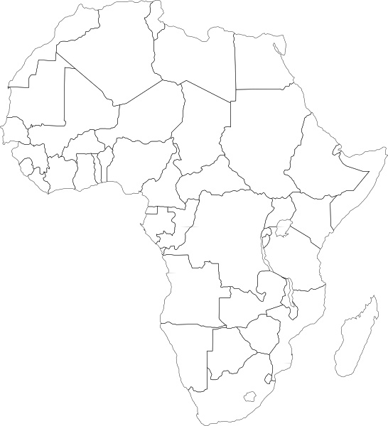 Free Clip Art Africa Map Africa Political Map clip art Free vector in Open office drawing