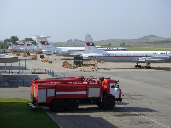 air koryo planes sunan airport north korea