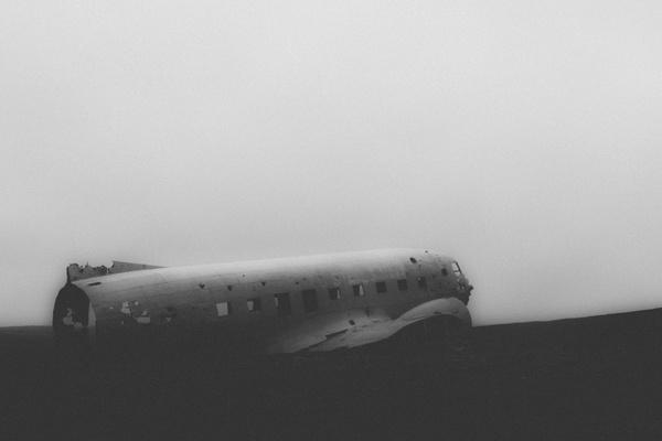 aircraft beach black and white boat desert flight