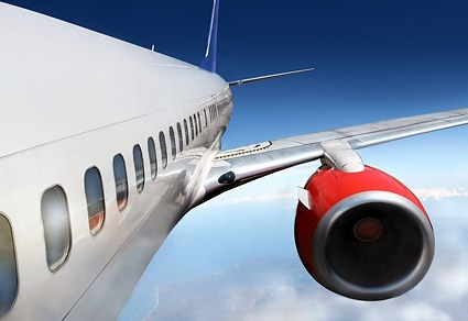 aircraft in flight closeup picture