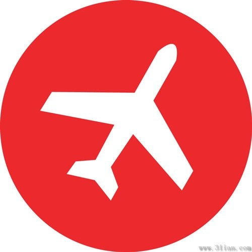 Airplane Icon Vector Red Background Free Vector In Adobe