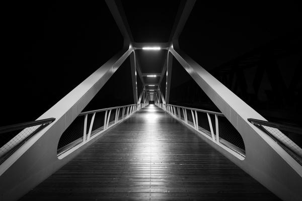 Airport architecture background business city dark Free