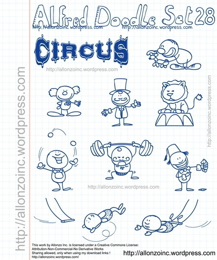 Alfred Doodle Set 28 Free vector in Encapsulated PostScript