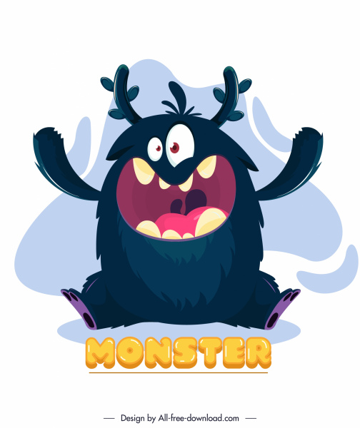 alien monster icon funny cartoon character sketch