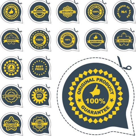 all kinds of badge labels 04 vector