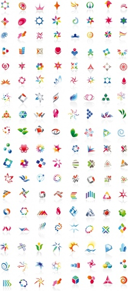 all kinds of beautiful flags vector